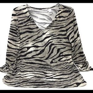 Chico's Blouse Animal Print Chico's Sz 0 or Small